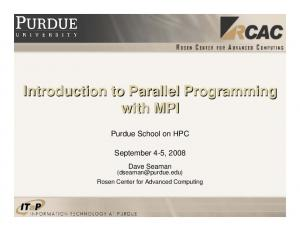 Introduction to Parallel Programming with MPI