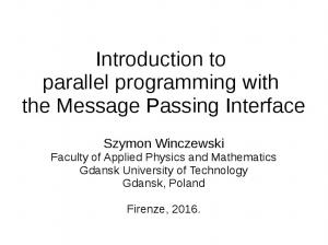 Introduction to parallel programming with the Message Passing Interface