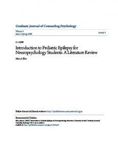Introduction to Pediatric Epilepsy for Neuropsychology Students: A Literature Review