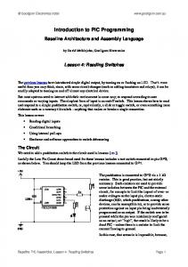 Introduction to PIC Programming