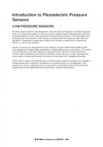 Introduction to Piezoelectric Pressure Sensors