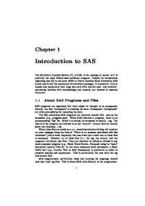Introduction to SAS. 1.1 About SAS Programs and Files