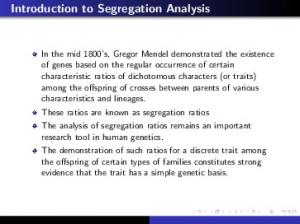 Introduction to Segregation Analysis
