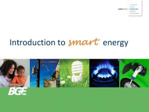 Introduction to smart energy