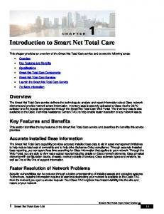 Introduction to Smart Net Total Care