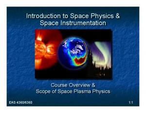 Introduction to Space Physics & Space Instrumentation