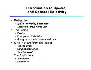 Introduction to Special and General Relativity