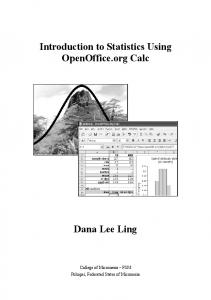 Introduction to Statistics Using OpenOffice.org Calc Dana Lee Ling