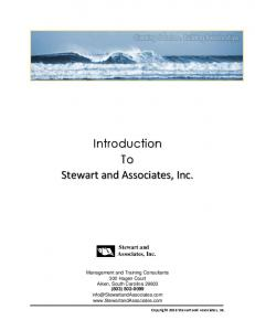 Introduction To Stewart and Associates, Inc