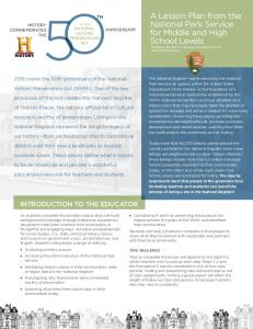 INTRODUCTION TO THE EDUCATOR