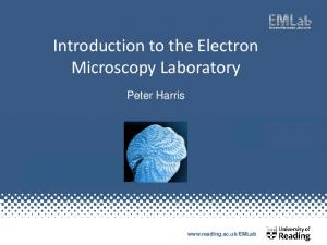 Introduction to the Electron Microscopy Laboratory