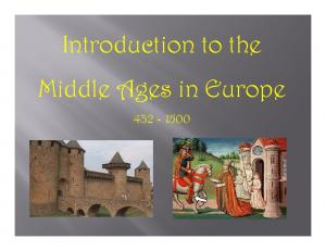 Introduction to the Middle Ages in Europe