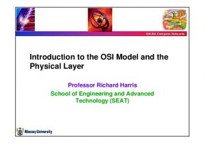 Introduction to the OSI Model and the Physical Layer
