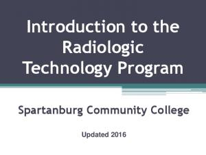 Introduction to the Radiologic Technology Program