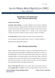 Introduction to the Special Issue: Film, Television and the Body