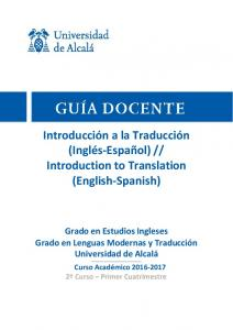 Introduction to Translation (English-Spanish)