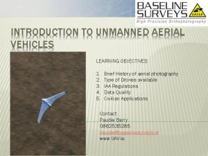 INTRODUCTION TO UNMANNED AERIAL VEHICLES