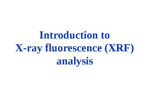 Introduction to X-ray fluorescence (XRF) analysis