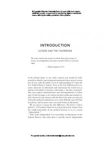 INTRODUCTION ULYSSES AND THE CHAPERONE