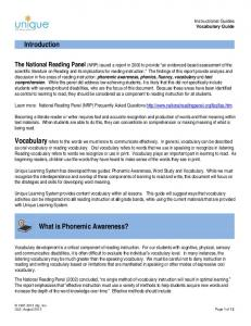 Introduction. What is Phonemic Awareness?