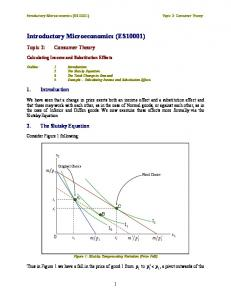 Introductory Microeconomics (ES10001)