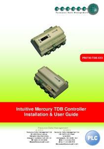 Intuitive Mercury TDB Controller Installation & User Guide