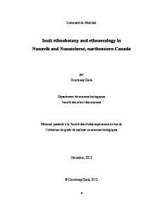 Inuit ethnobotany and ethnoecology in Nunavik and Nunatsiavut, northeastern Canada