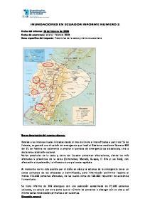 INUNDACIONES EN ECUADOR INFORME NUMERO 2