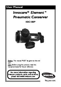 Invacare Element Pneumatic Conserver