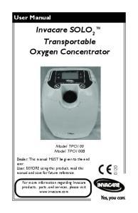 Invacare SOLO 2 Transportable Oxygen Concentrator