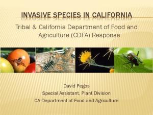 INVASIVE SPECIES IN CALIFORNIA