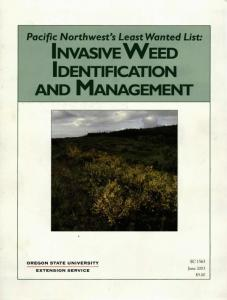 INVASIVE WEED IDENTIFICATION AND MANAGEMENT