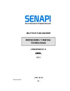 INVENCIONES Y NUEVAS TECNOLOGIAS