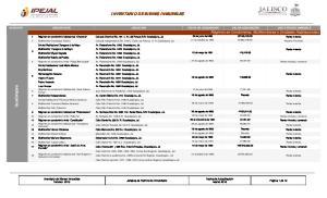 INVENTARIO DE BIENES INMUEBLES