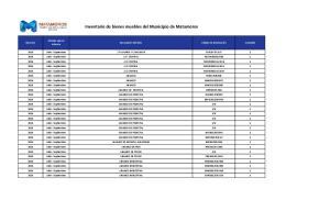 Inventario de bienes muebles del Municipio de Matamoros