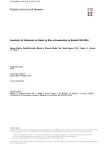 Inventario de Emisiones de Gases de Efecto Invernadero de Bolivia