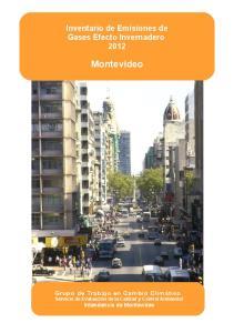 Inventario de Emisiones de ++++ Gases Efecto Invernadero Montevideo