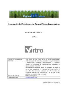 Inventario de Emisiones de Gases Efecto Invernadero