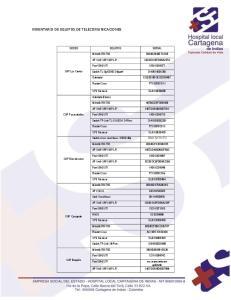 INVENTARIO DE EQUIPOS DE TELECOMUNICACIONES