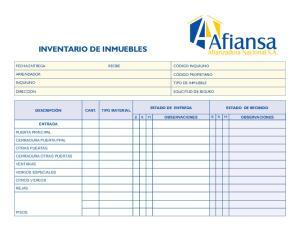 INVENTARIO DE INMUEBLES