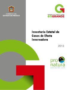 Inventario Estatal de Gases de Efecto Invernadero