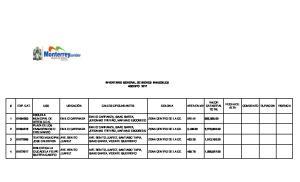 INVENTARIO GENERAL DE BIENES INMUEBLES AGOSTO 2011