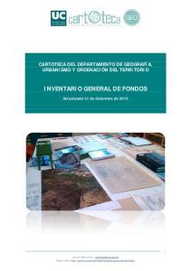 INVENTARIO GENERAL DE FONDOS