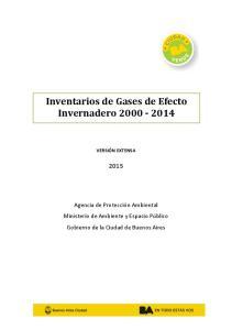 Inventarios de Gases de Efecto Invernadero