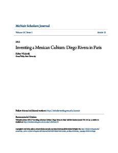 Inventing a Mexican Cubism: Diego Rivera in Paris