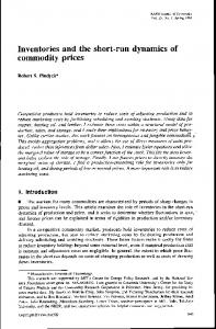 Inventories and the short-run dynamics of commodity prices