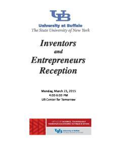 Inventors and Entrepreneurs Reception