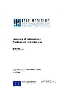 Inventory of Telemedicine Applications in the Regions