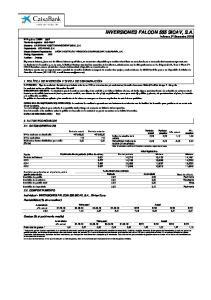 INVERSIONES FALCON 555 SICAV, S.A