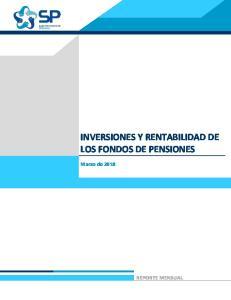 INVERSIONES Y RENTABILIDAD DE LOS FONDOS DE PENSIONES